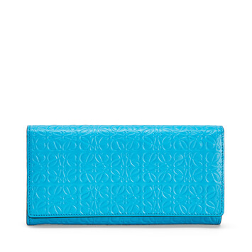 LOEWE Continental Wallet Peacock Blue front