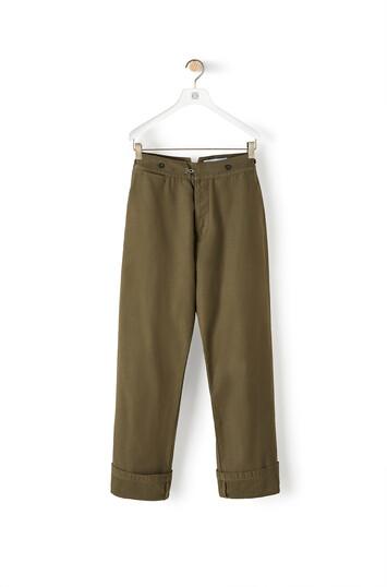 LOEWE Trousers Verde Militar front