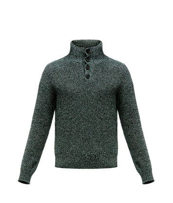 Henley Turtleneck Melange