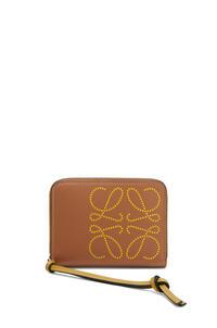 LOEWE 6 card zip wallet in classic calfskin Tan/Ochre pdp_rd
