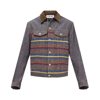 LOEWE Stripe Denim Jacket Indigo/Multicolour front