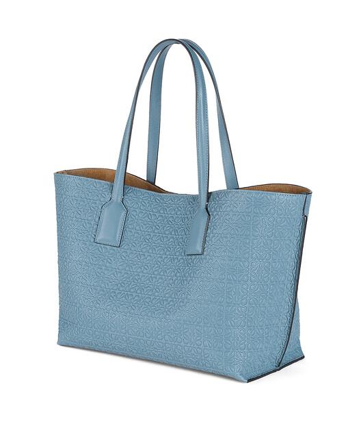 LOEWE T Shopper Bag Stone Blue front
