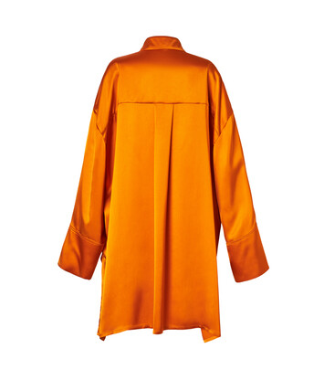 LOEWE Satin Oversize Shirt Orange front