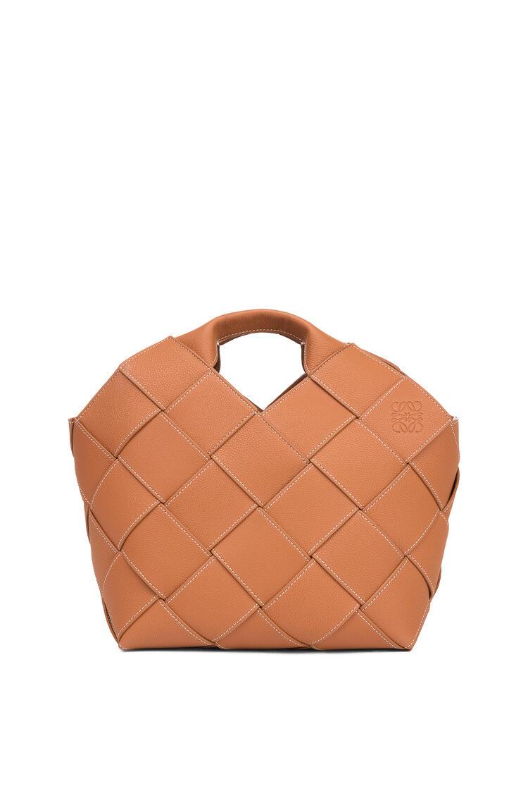 LOEWE Woven basket bag in soft grained calfskin Tan pdp_rd