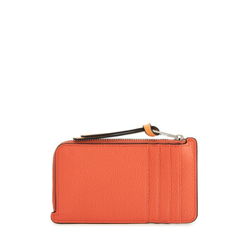 LOEWE Coin Cardholder Coral/Soft Apricot front