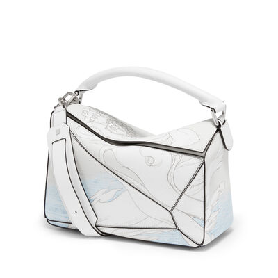 LOEWE Puzzle Faces Bag Soft White front
