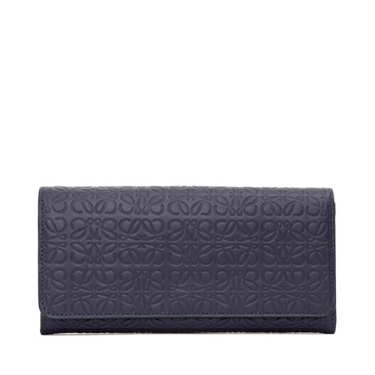 LOEWE Continental Wallet Navy Blue all