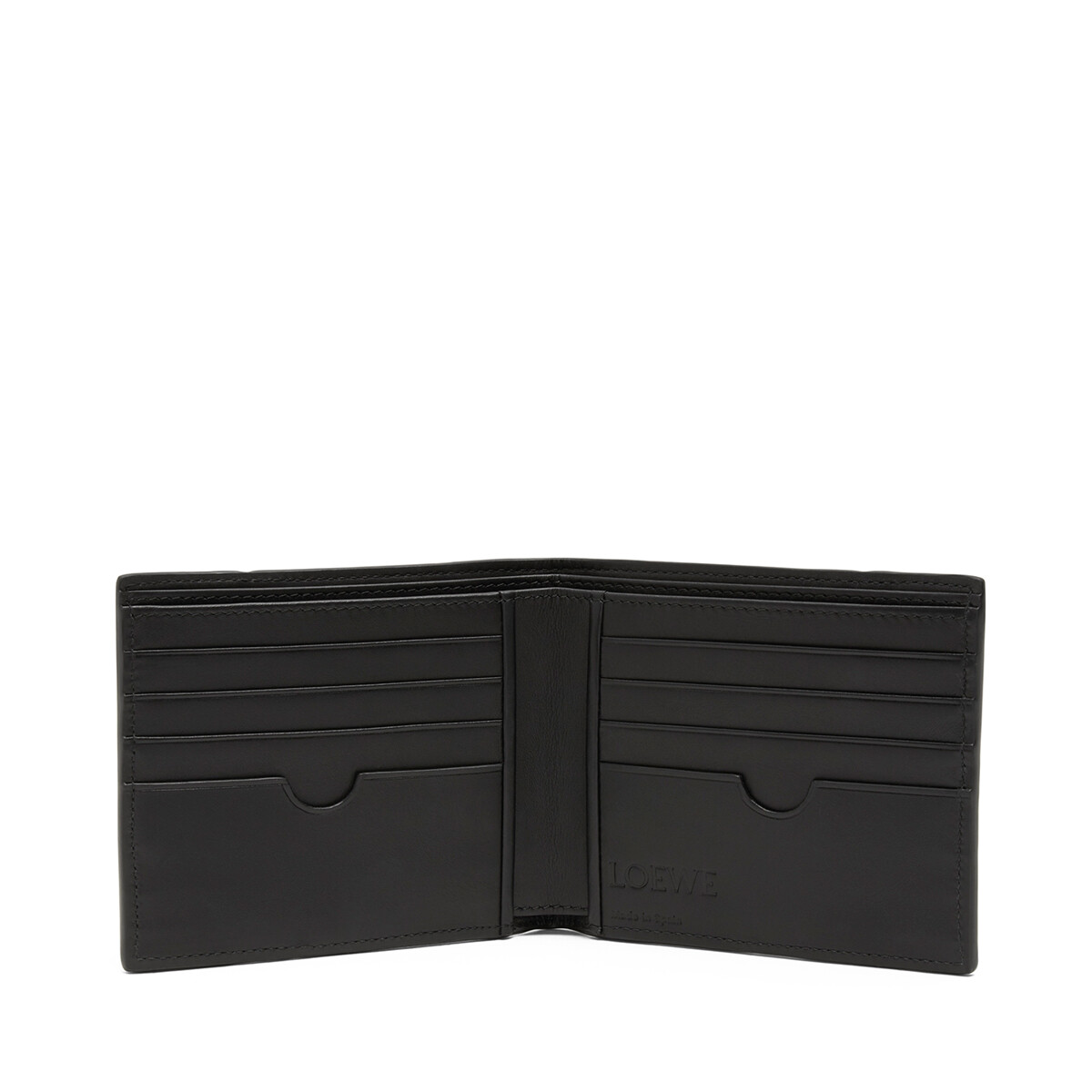 LOEWE Puzzle Bifold Wallet Grey Multitone front