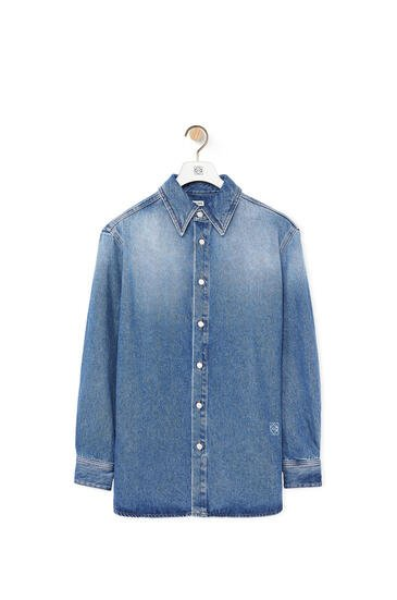 LOEWE Shirt in denim Blue pdp_rd