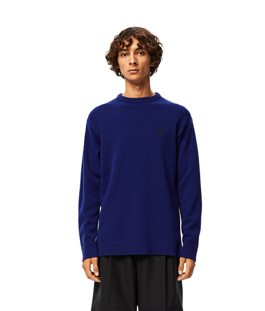 LOEWE Anagram Sweater Navy Blue front
