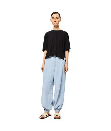 LOEWE Short Oversize Anagram T-Shirt 黑色 front
