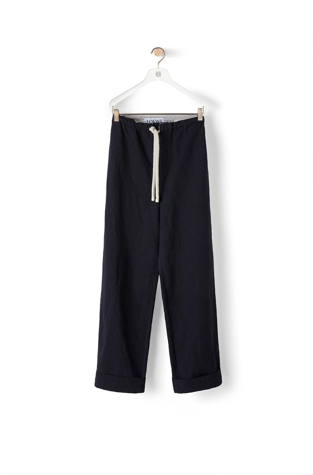 LOEWE Drawstring Trousers Dark Navy Blue front