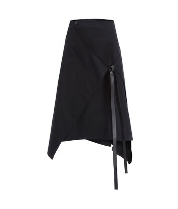 LOEWE Apron Skirt Black front