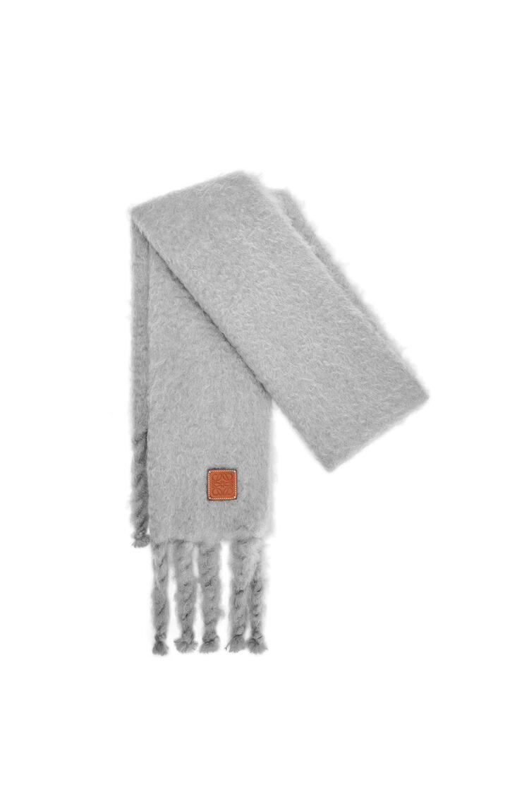 LOEWE Scarf in mohair and wool Ice Grey pdp_rd