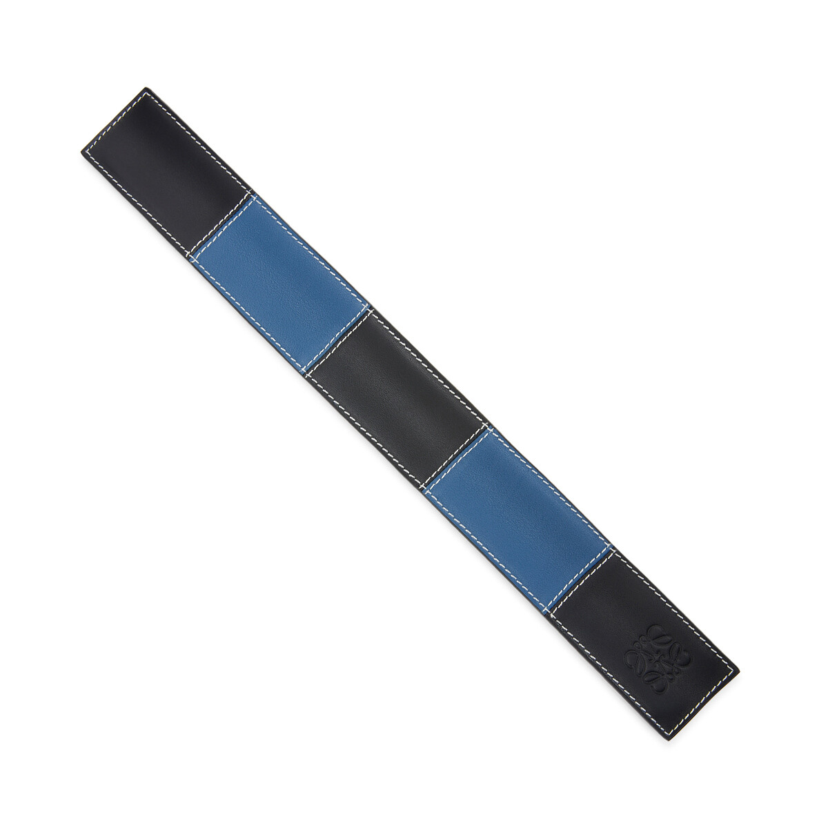 LOEWE Big Patchwork Slap Bracelet Black/Blue front