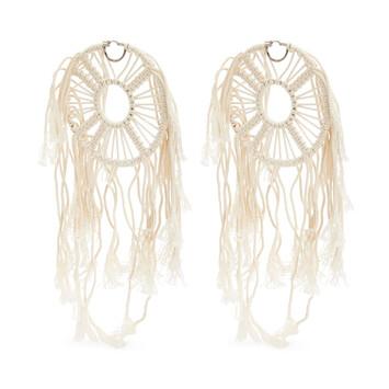 LOEWE Paula Dream Catchers Earrings Soft White front