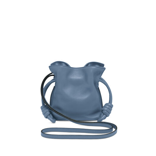 LOEWE Mini Flamenco Knot Bag Varsity Blue front