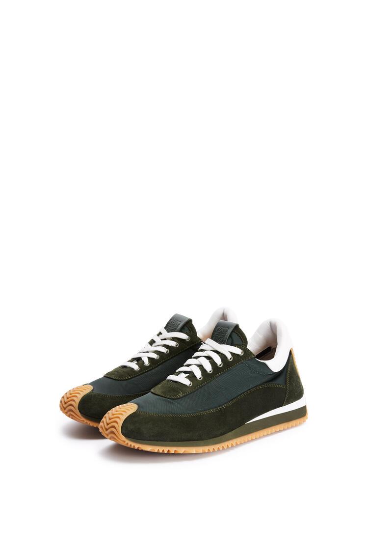 LOEWE Flow runner in nylon Dark Green/White pdp_rd