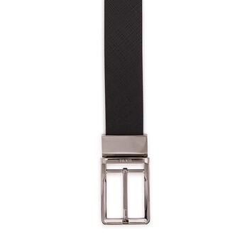 LOEWE Formal Belt 3.2Cm Adj/Rev Black/Ruthenium front