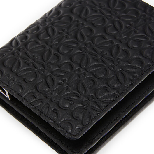 LOEWE Compact Zip Wallet Black front
