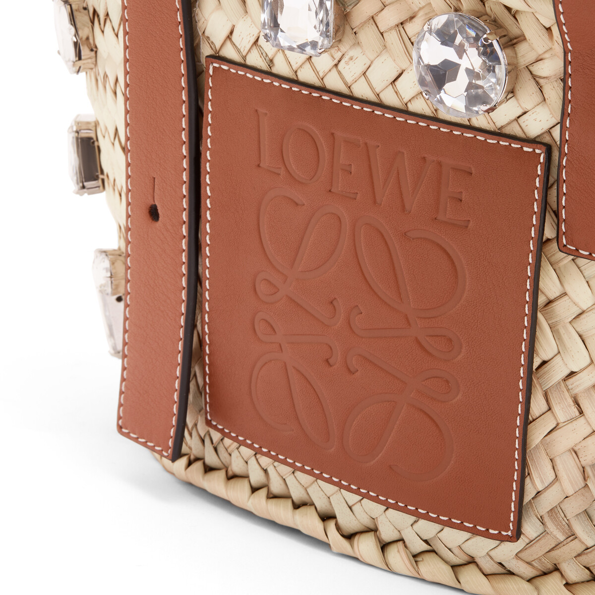 LOEWE Basket Stones Small Bag Natural/Tan front