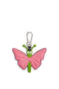 LOEWE Butterlfy charm in calfskin Pink/Green pdp_rd
