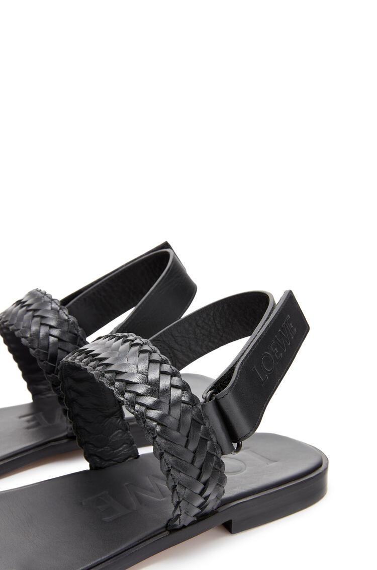 LOEWE Braided Sandal In Calfskin Black pdp_rd