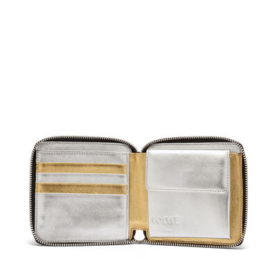 LOEWE Rainbow Square Zip Wallet Gold/Silver front