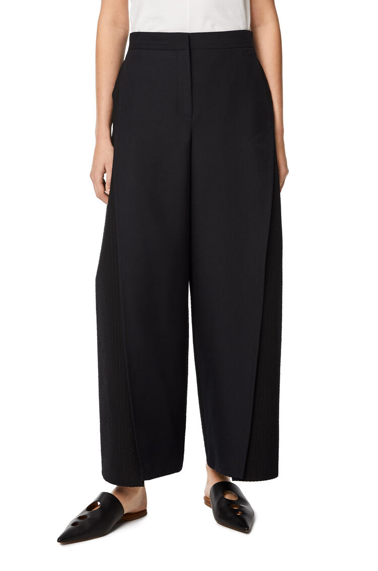 LOEWE Front vent trousers in wool Black pdp_rd