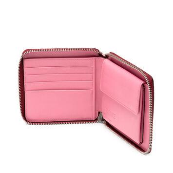 LOEWE Square Zip Wallet Raspberry front
