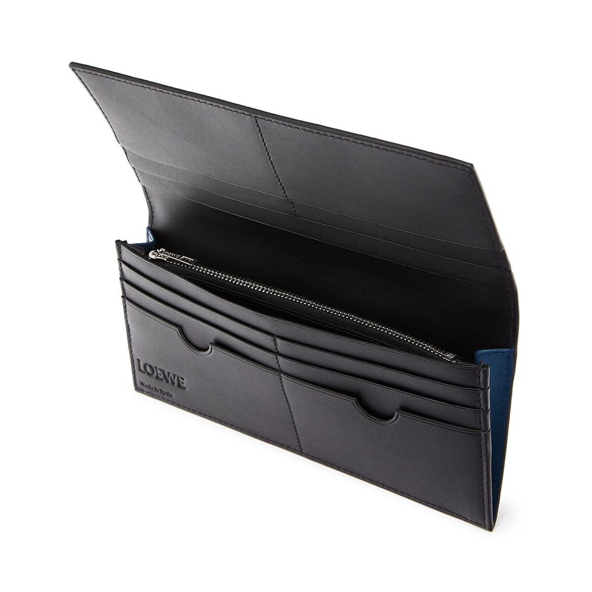 LOEWE Brand Long Horizontal Wallet Indigo front