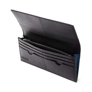 LOEWE Brand Long Horizontal Wallet 靛藍 front