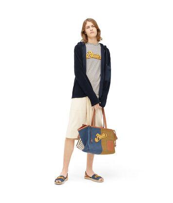 LOEWE Paula Towel Zip Hoodie Navy Blue front