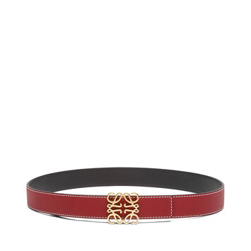 LOEWE Cinturon Anagrama 3.2 Cm Rouge/Negro/Oro front