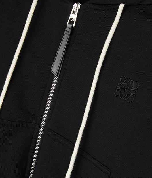 LOEWE Oversize Zip Hoodie Black front