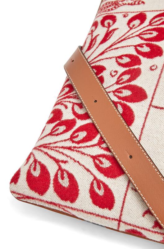 LOEWE Vertical Tote Tiles Bag Red front