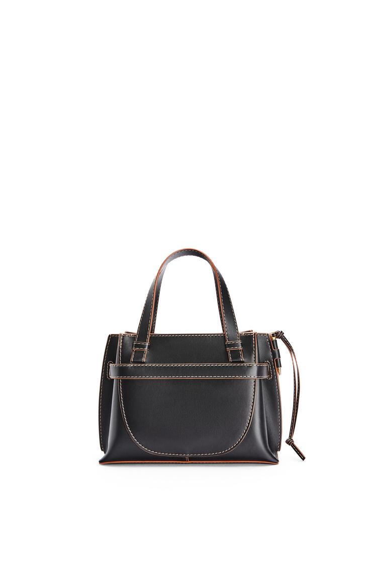 LOEWE Mini Gate Top Handle bag in natural calfskin Black/Tan pdp_rd