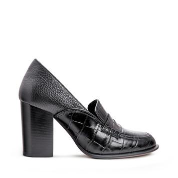 LOEWE Loafer Heel 85 Black/Black front