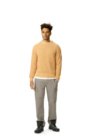 LOEWE Melange crewneck sweater in cotton Mustard pdp_rd