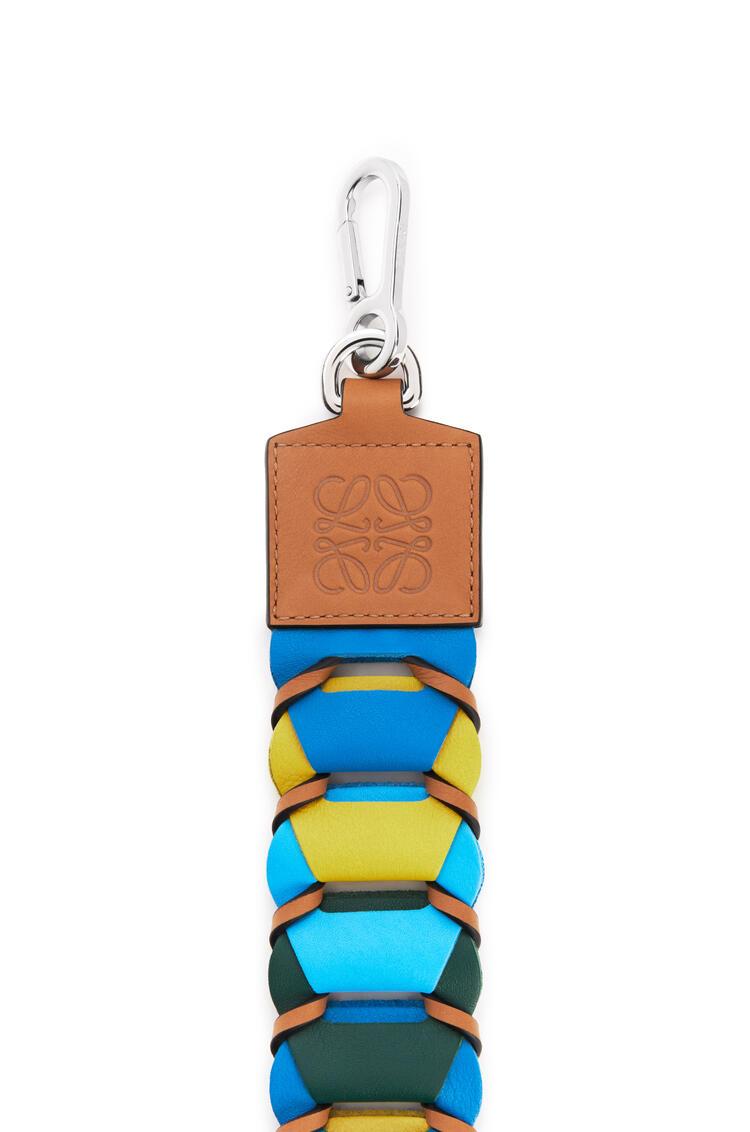 LOEWE Bandolera de círculos enlazados en piel de ternera Azul Topacio/Amarillo pdp_rd