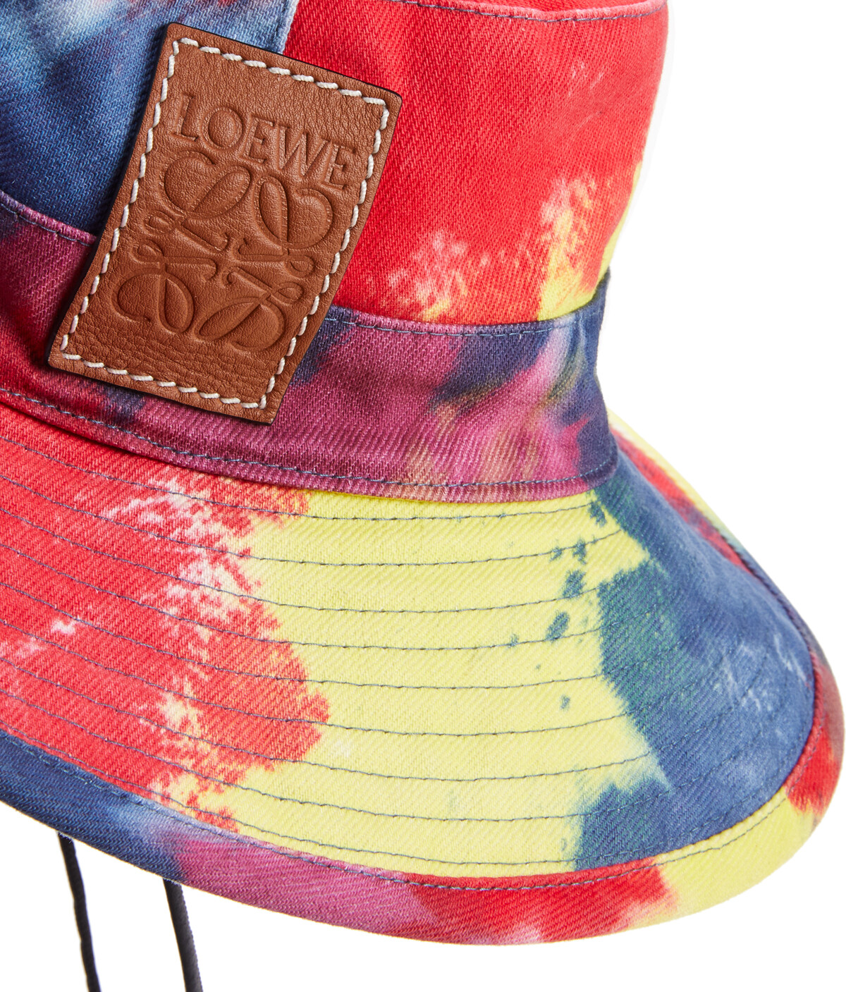 LOEWE Explorer Hat In Tie Dye Canvas Light Blue/Pink front