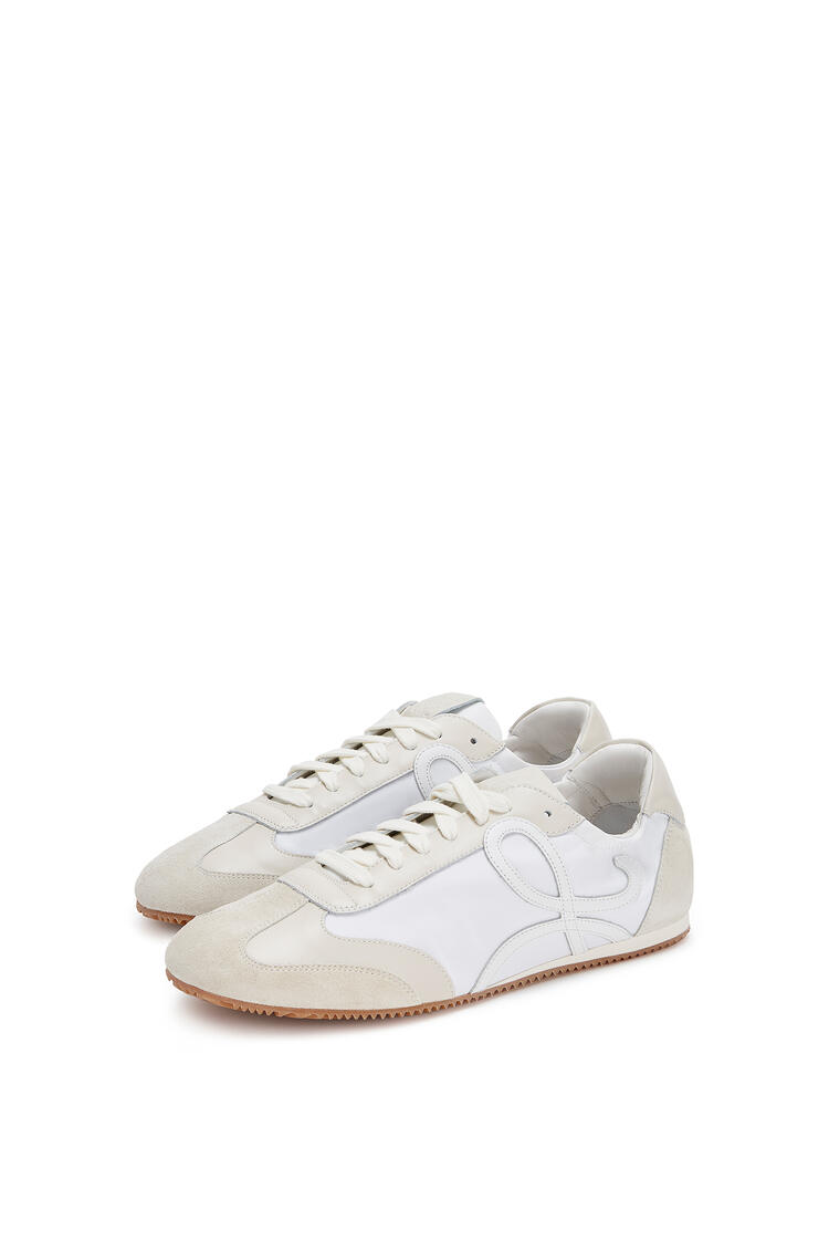 LOEWE Ballet runner in nylon and leather White/Off-white pdp_rd