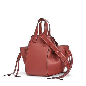LOEWE Hammock Drawstring Small Bag ガーネット front