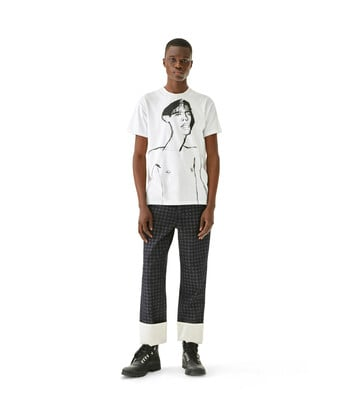 LOEWE Portrait Print T-Shirt White front