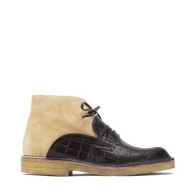 LOEWE Loafer Desert Boot Black/Gold front