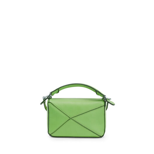 LOEWE Mini Puzzle Bag 绿色 front