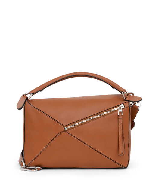LOEWE Puzzle Large Bag タン front