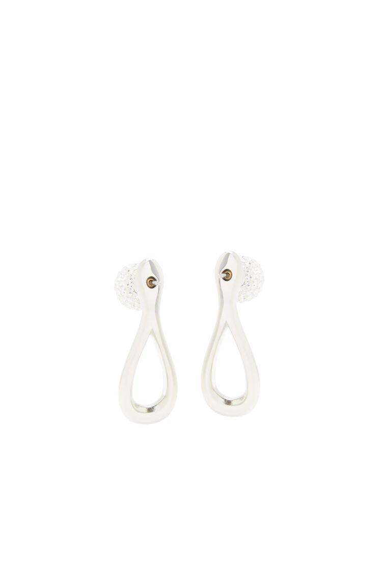 LOEWE Drop earrings in metal and crystals Palladium pdp_rd