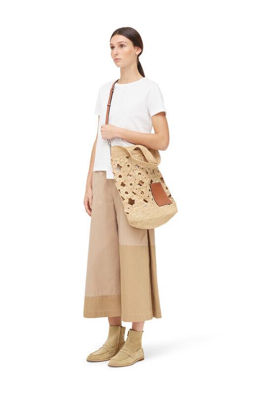 LOEWE Culotte Trousers Beige/Black front