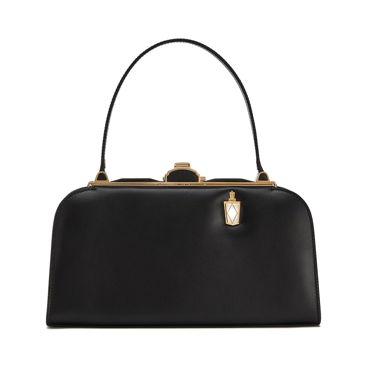 LOEWE Lantern Bag 黑色 front